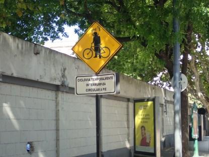 Rad muss vorübergehend geschoben werden