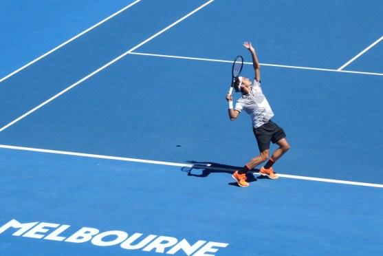 AustralianOpen-Federer-Aufschlag