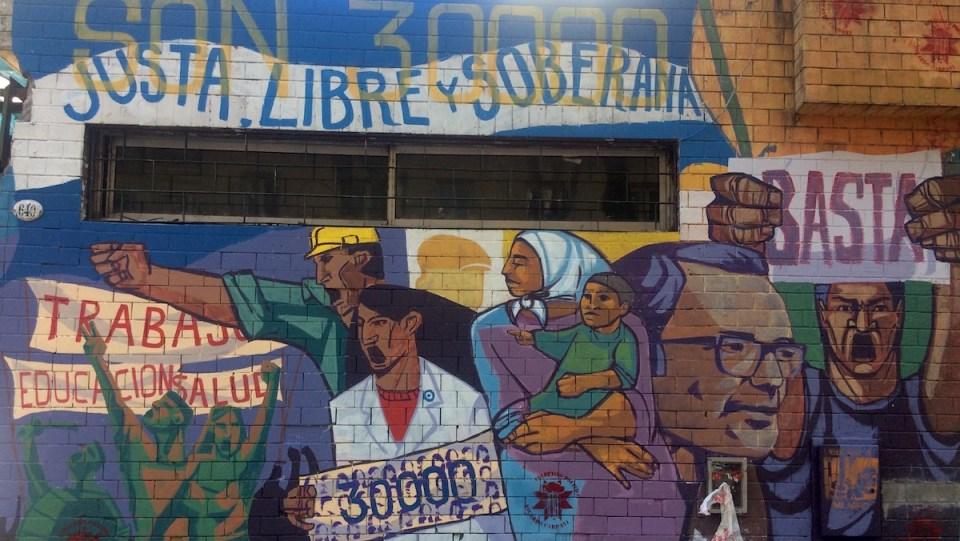 BuenosAires StreetArt Politik 30000 | aufmerksam reisen