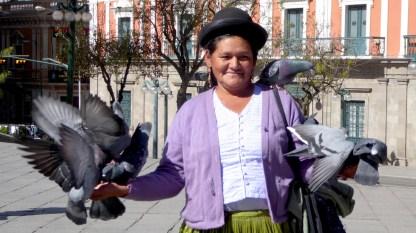 Bolivien-LaPaz-Indigena-Tauben