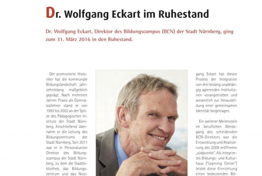 Bibliotheksforum Wolfgang Eckart im Ruhestand | aufmerksam reisen