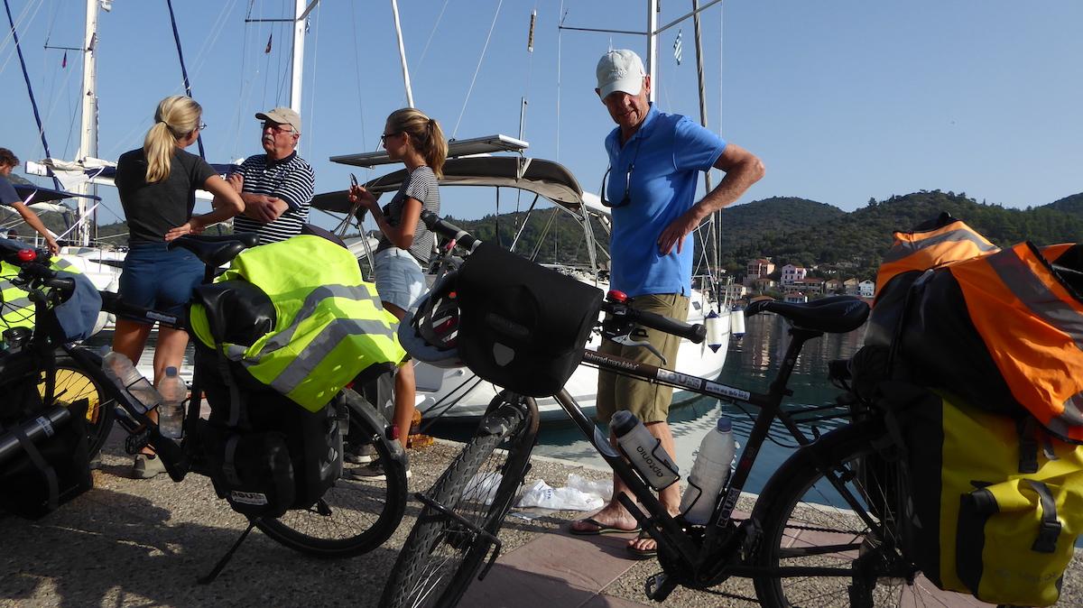 Weltreise: Eine französische Familie ist mit dem Fahrrad unterwegs