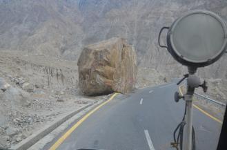Mit Steinschlag ist zu rechnen