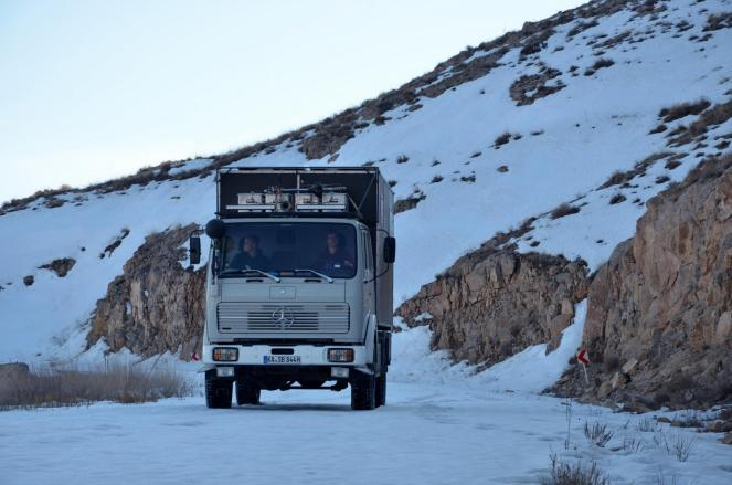 Jungfernfahrt im Schnee