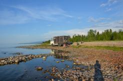 Erster Stellplatz am Baikalsee