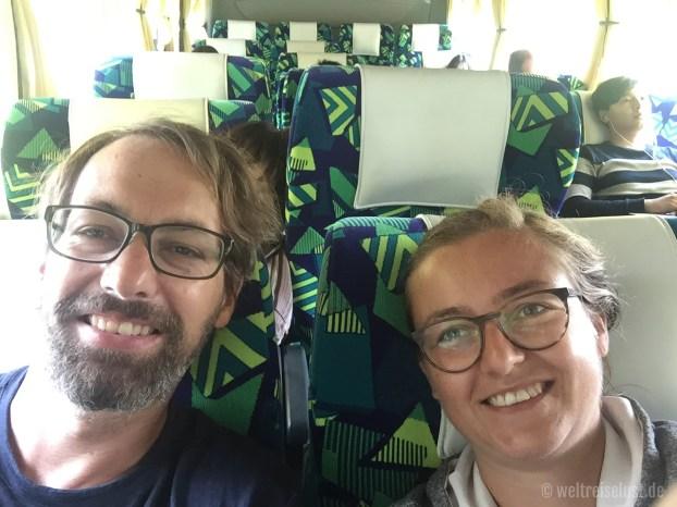 Die Busfahrt von Singapur war sehr komfortabel!