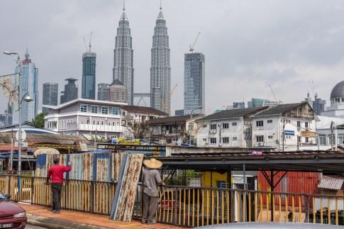 """In Kampung Baru sieht man noch Überreste des """"alten"""" Kuala Lumpur."""