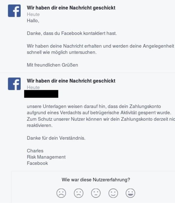 facebook antwort anon