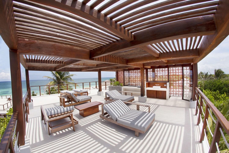 Rood deck of the Wellness Center at Sanara Tulum Hotel