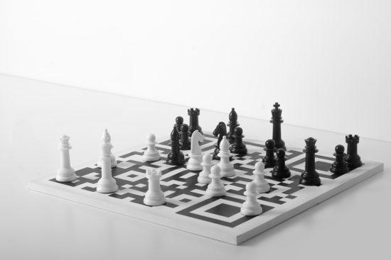'QR chess' Ignacio Kise. Art object. 2016