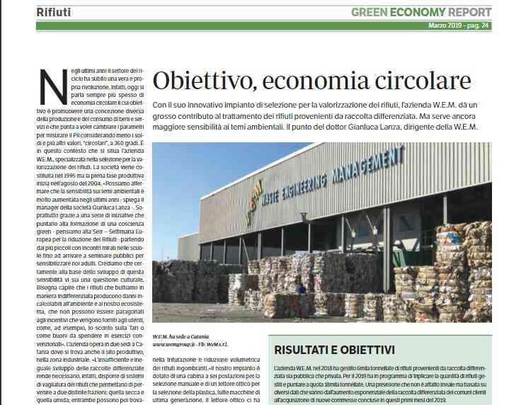 La W.E.M. su Green Economy 2019