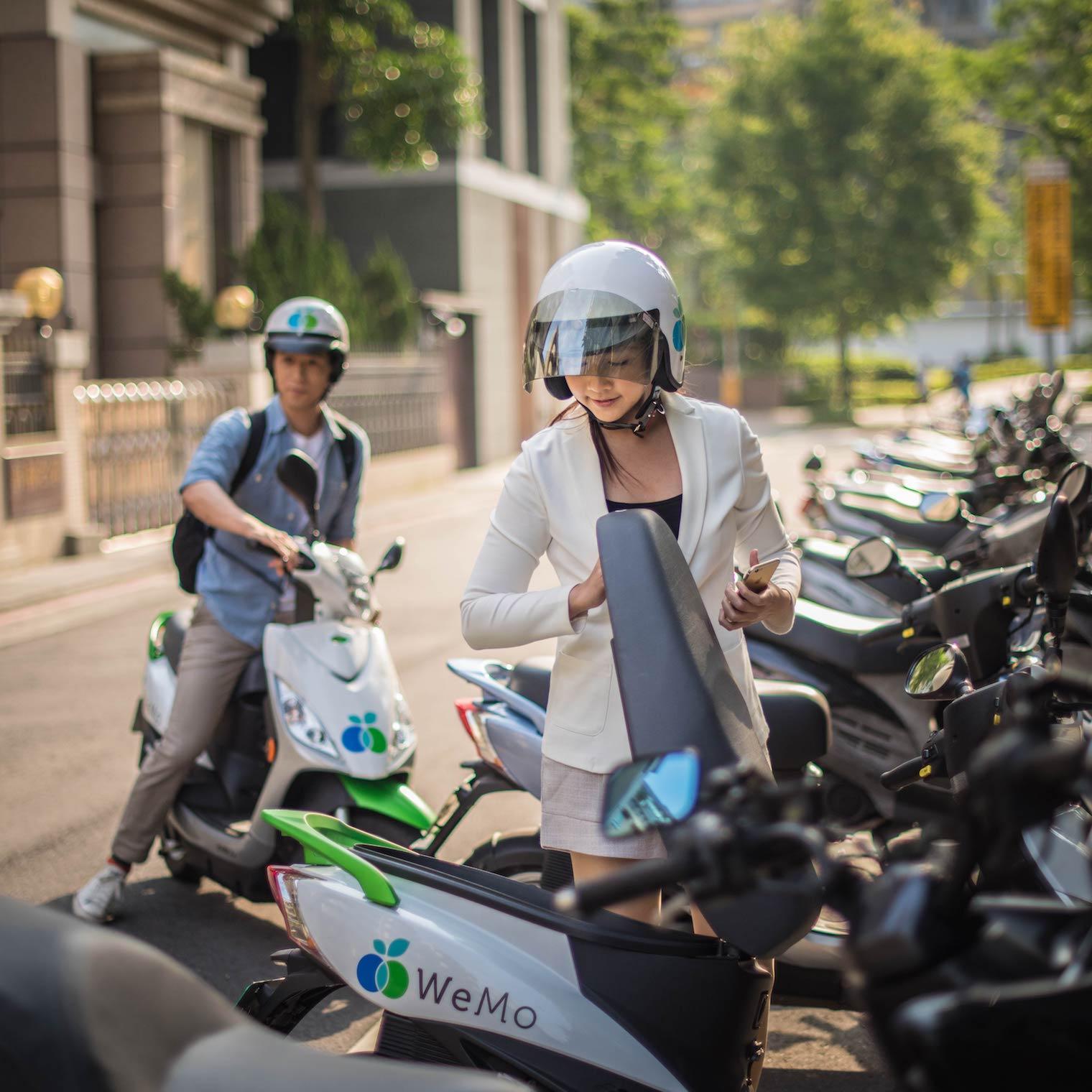 最便利的電動機車即時租借服務  WeMo Scooter 威摩科技