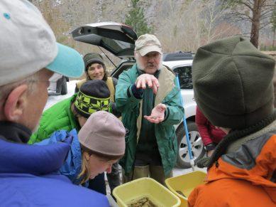 Mark explains food-gathering appendages for one guild of aquatic invertebrates.