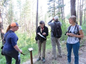 Collecting bird data at a stationary point on Mountain Home Preserve