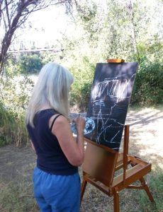 CIndy Rietveldt Plein Air painting in Confluence State Park