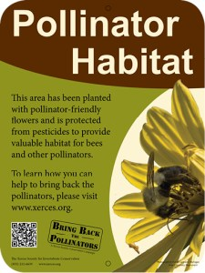 The Xerces Society Pollinator Habitat yard sign