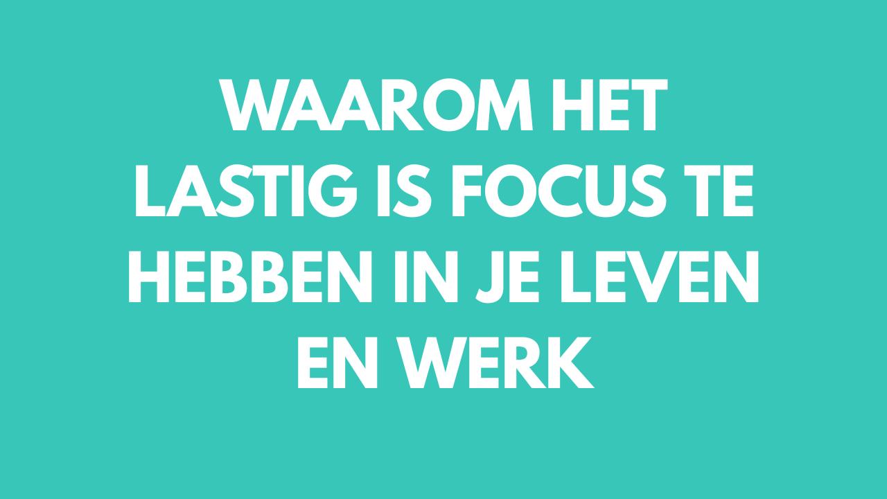 Focus hebben