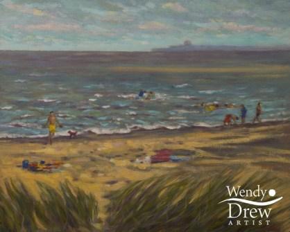 Playing on the beach Walberswick