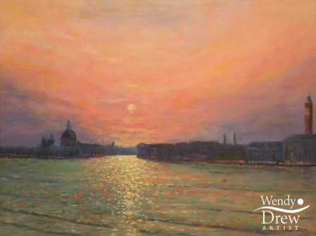 Sunset over the Grand Canal Venice