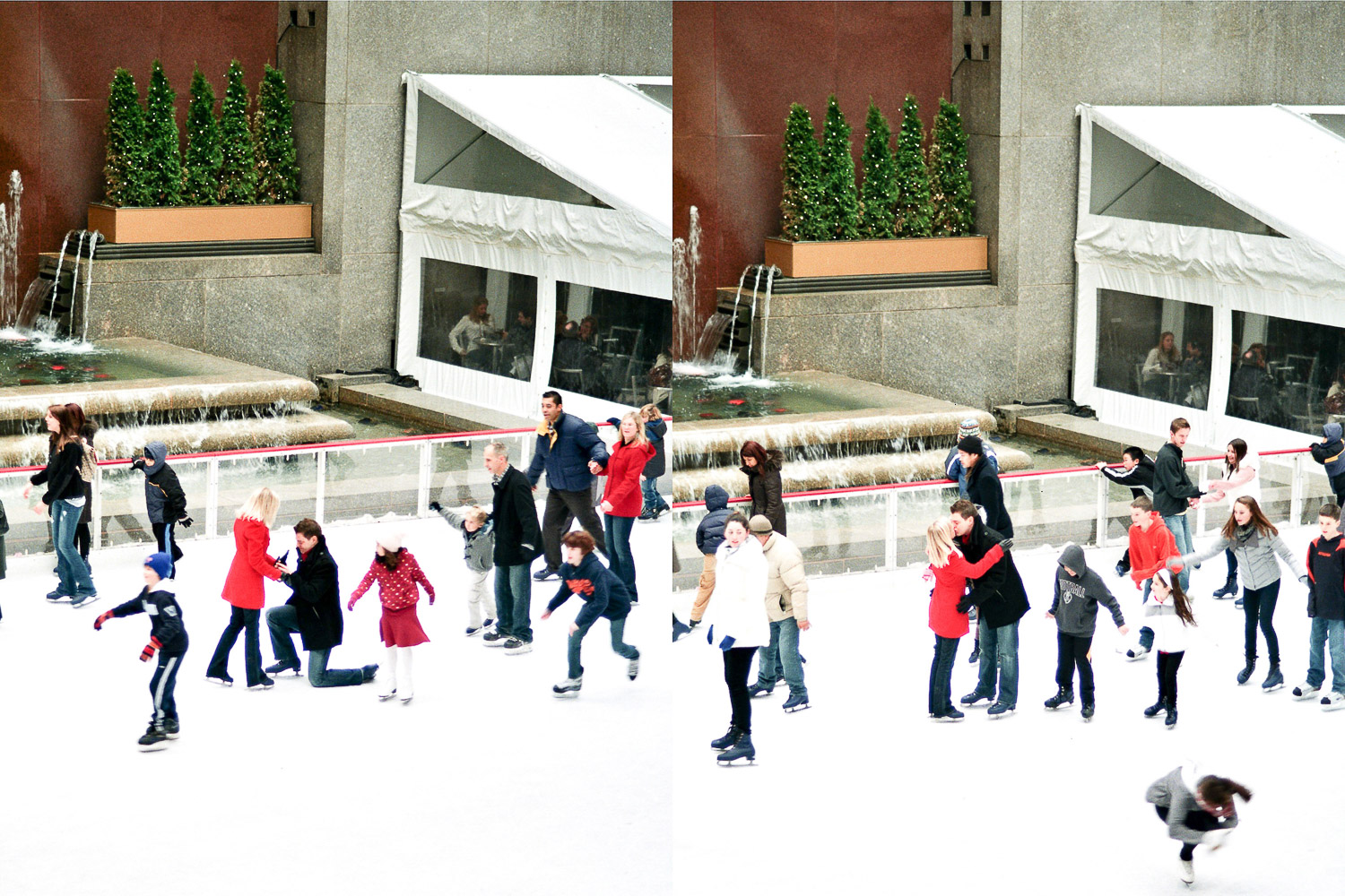 Rockefeller ice rink proposal moment by wendy g photography