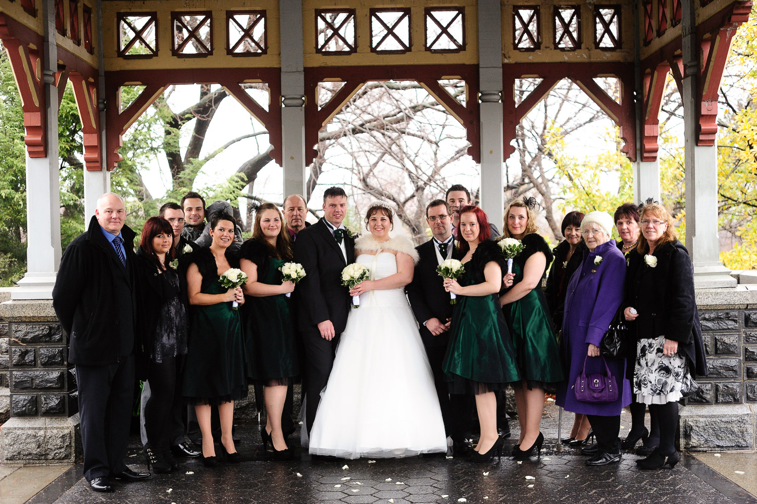 nyc belvedere castle mini wedding photo of guests by wendy g photography