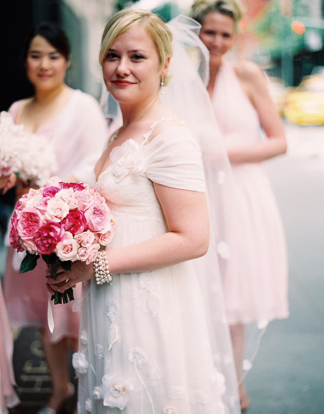 claire pettibone bride and bridesmaids taken by nyc wedding photographer wendy g photography