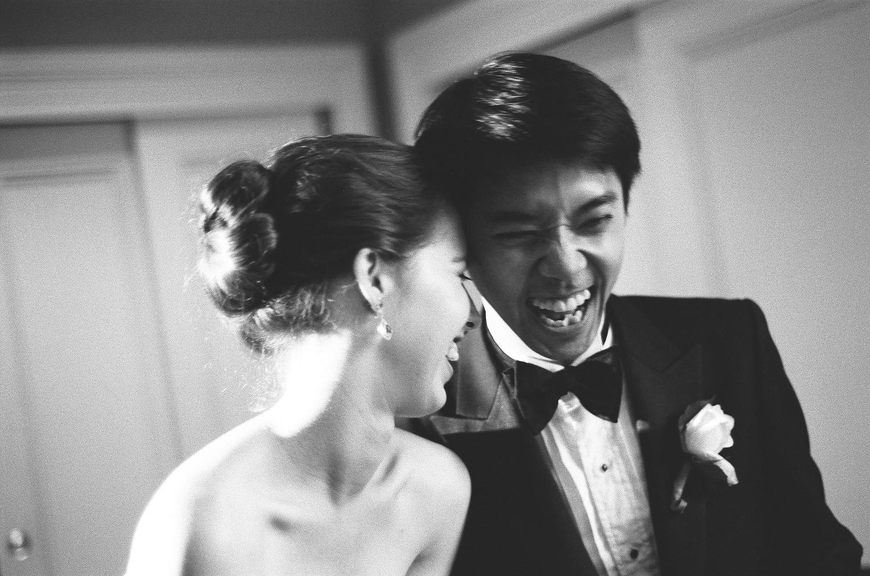 yale wedding couple laughing wendy g