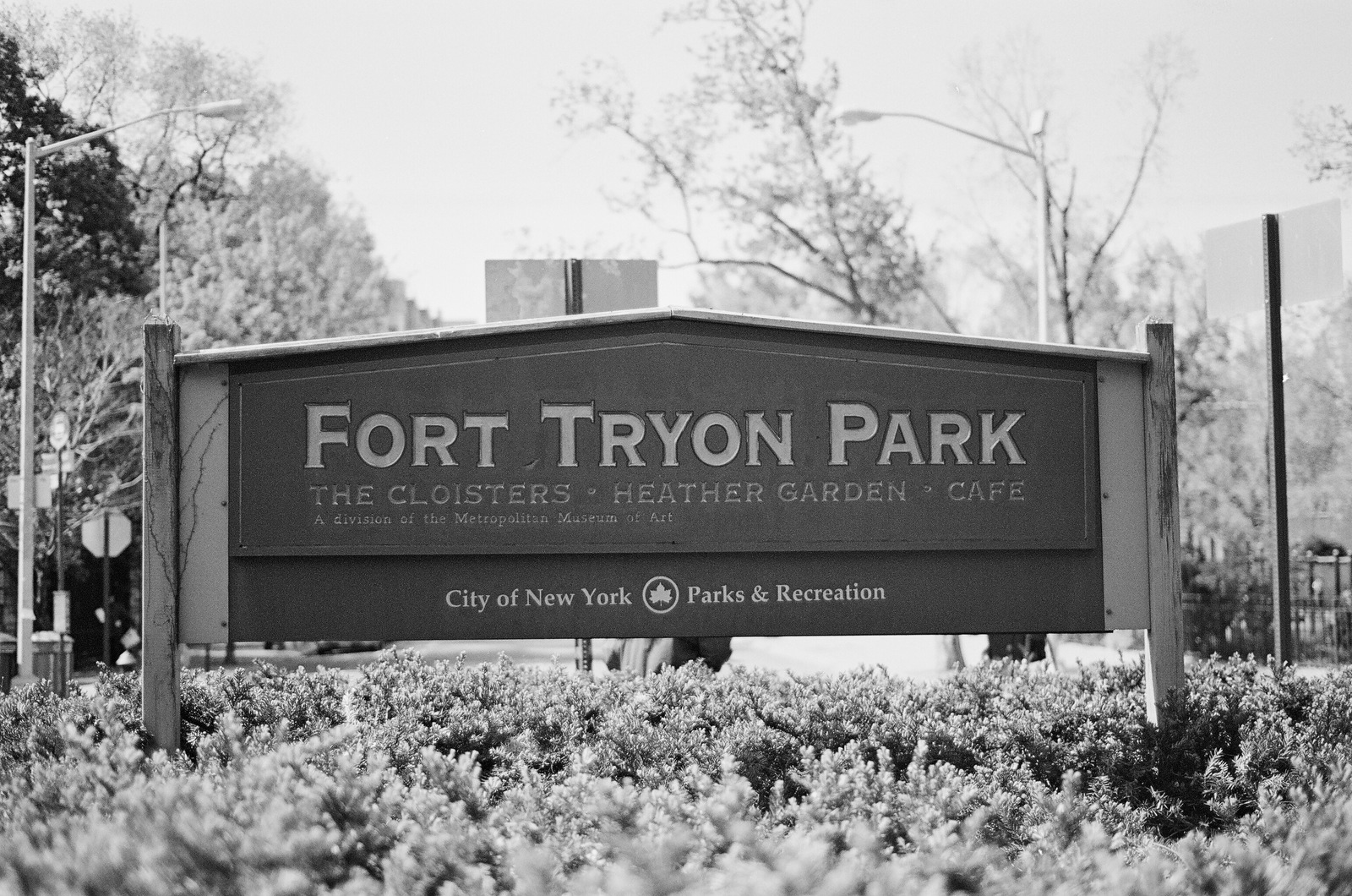 fort tryon park sign by wendy g photography