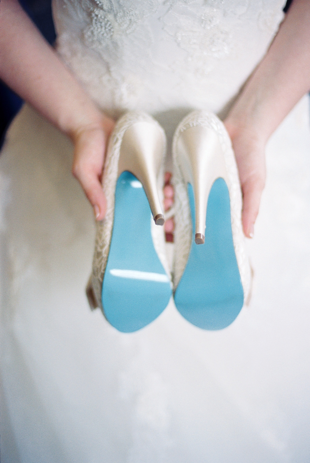bridal shoes with tiffany blue sole