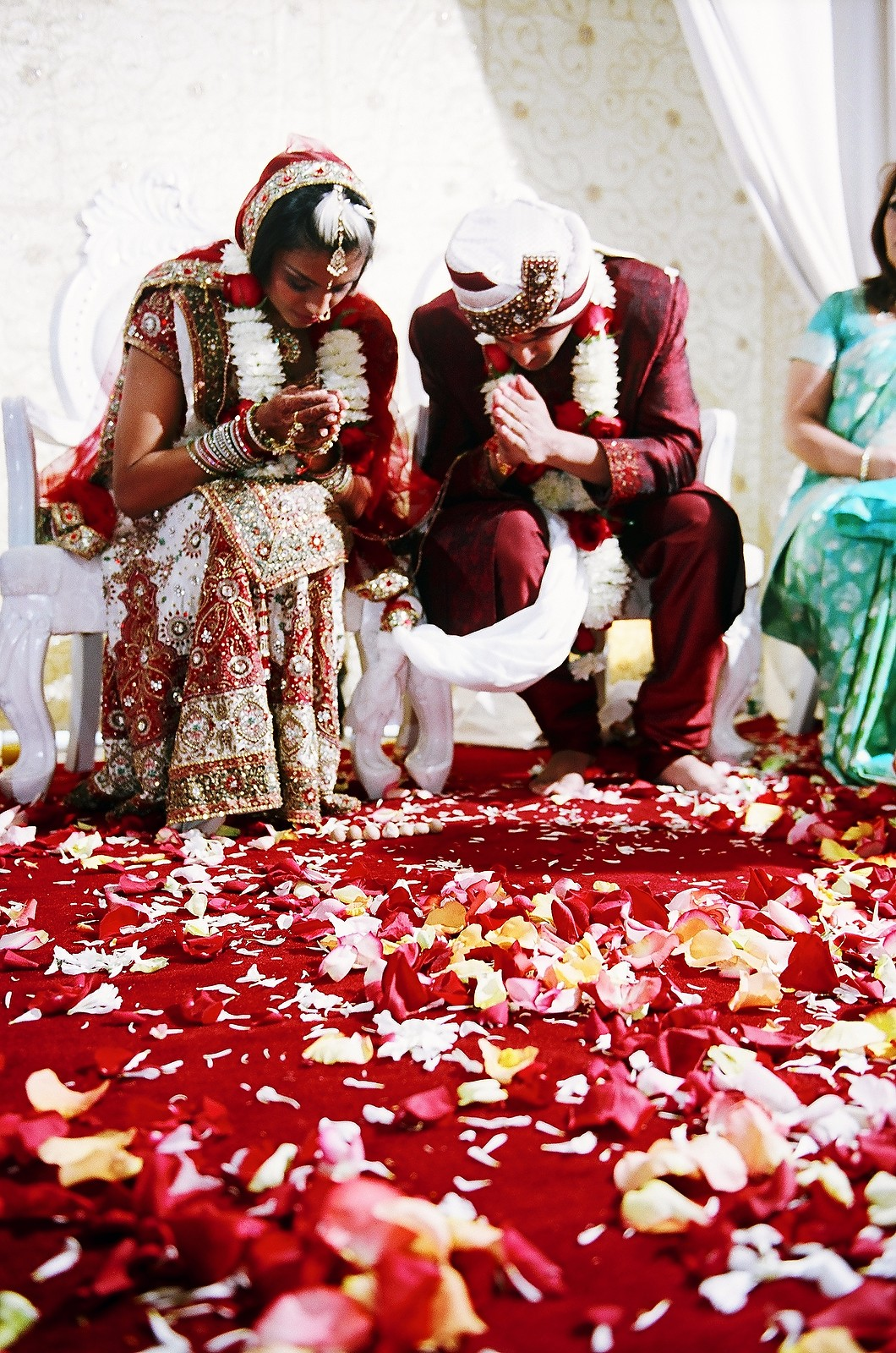 indian couple at end of wedding ceremony vows wendy g