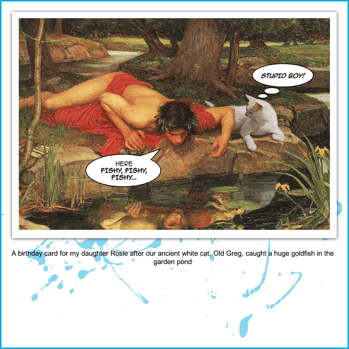 Narcissus and Old Greg fishing