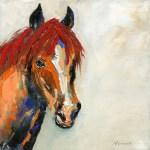 Colourful Horse Print Wendy Richards Art