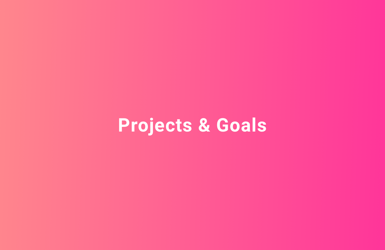 My Goals and Projects for 2019