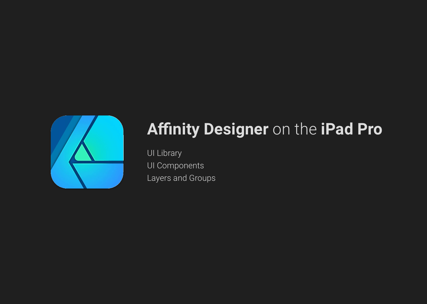 Affinity Designer on the iPad Pro 2018