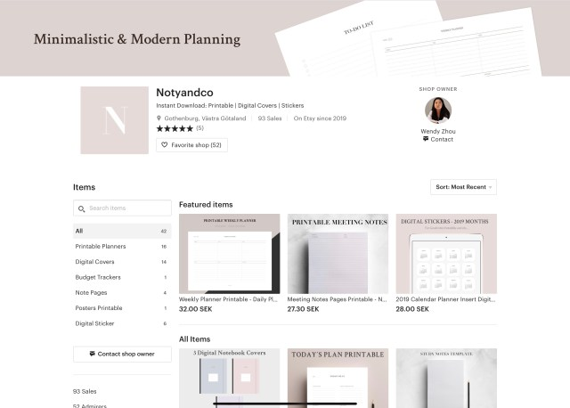 Noty & Co - E-commerce digital products and printables