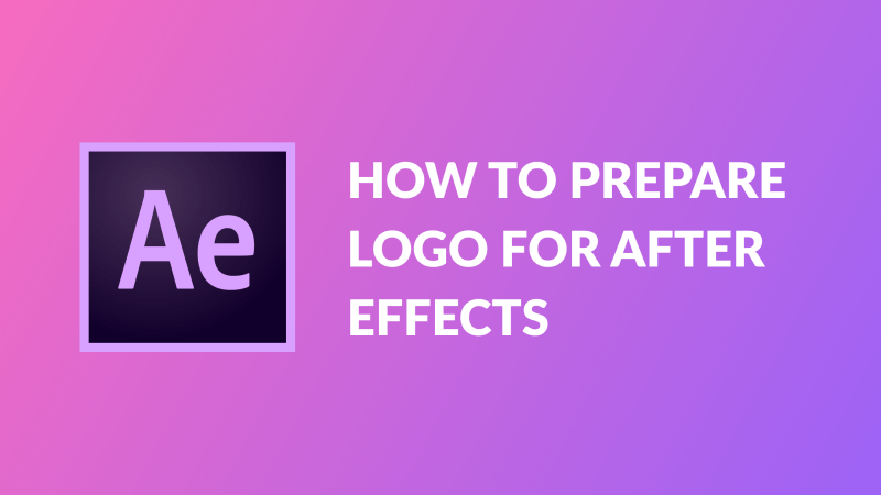 How to prepare logo for after effects