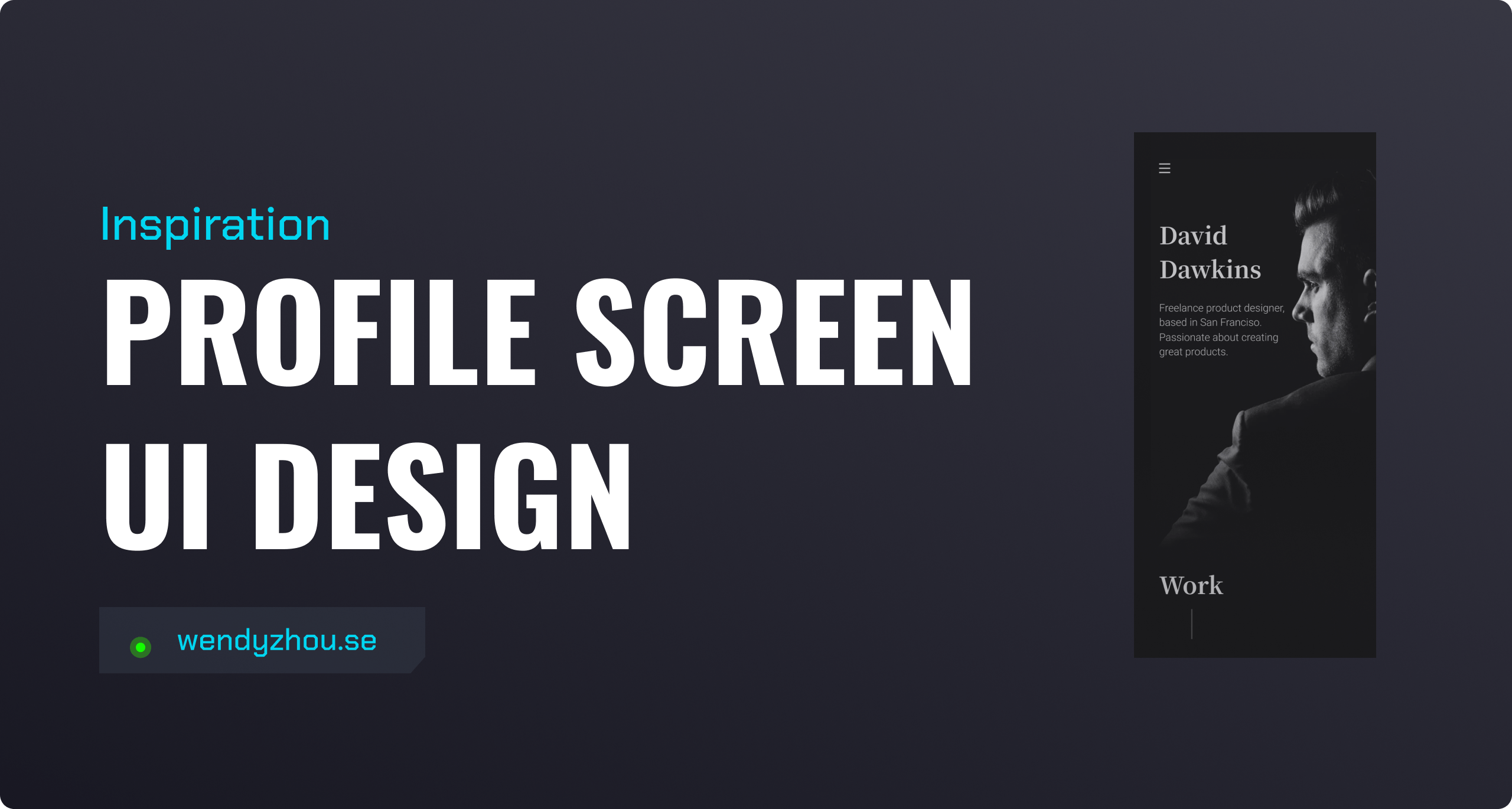 Profile Screen UI Design Inspiration