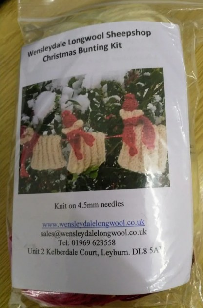 Wensleydale Longwool Sheep Shop Christmas Sheep Bunting Kit