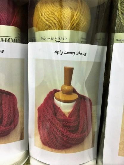 Wensleydale 4-ply Lacey Shrug kit