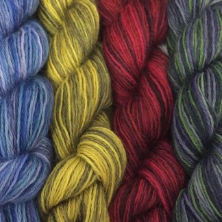 Hand Dyed 4 Ply Wensleydale