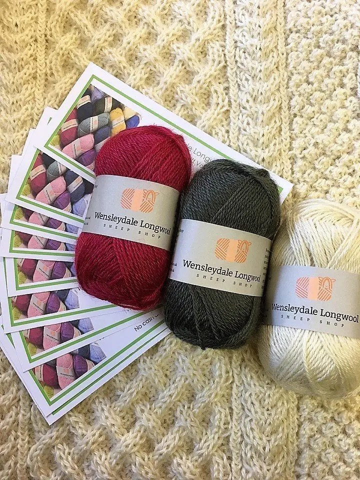 Wensleydale Longwool Gift Voucher pictured with our yarn