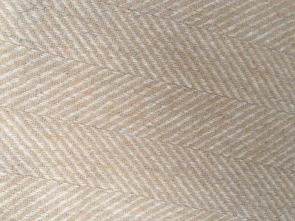 British Wool Rug- Throw Herringbone Camel
