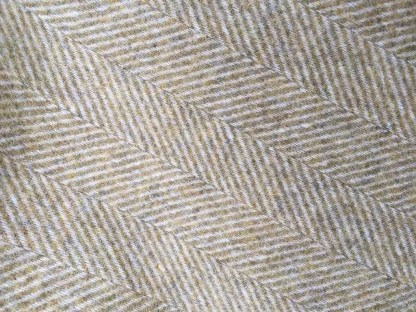 Pure Wool Rug - Throw Herringbone Litchen