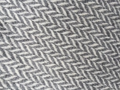British Wool Rug - Throw Herringbone Slate