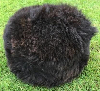 Footstool Dark Sheepskin