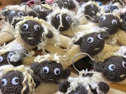 Flock of Wensleydale Sheep Coat Hangers