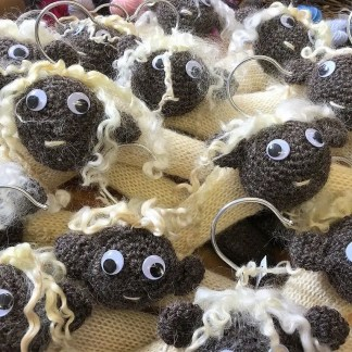 Flock of Wensleydale Sheep Coat Hangers