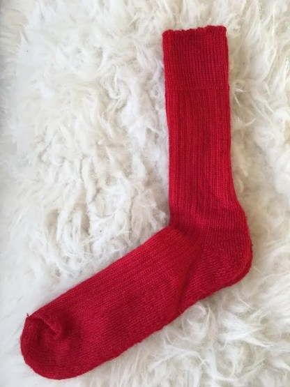 Sheep Shop mohair socks ruby