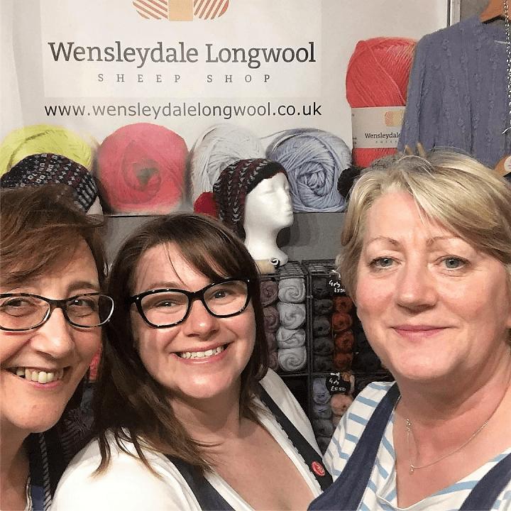 Wensleydale Longwool Sheep Shop team at Edinburgh Yarn Festival 2019