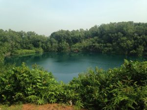 One of the quarries we saw during our ride.